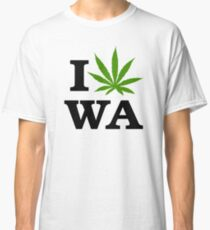 I Marijuana Love Washington Cannabis Classic T-Shirt