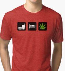 Eat Sleep Smoke Marijuana Tri-blend T-Shirt