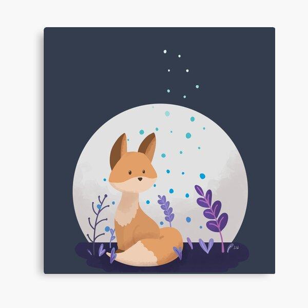 Fox Moonlight Design Canvas Print