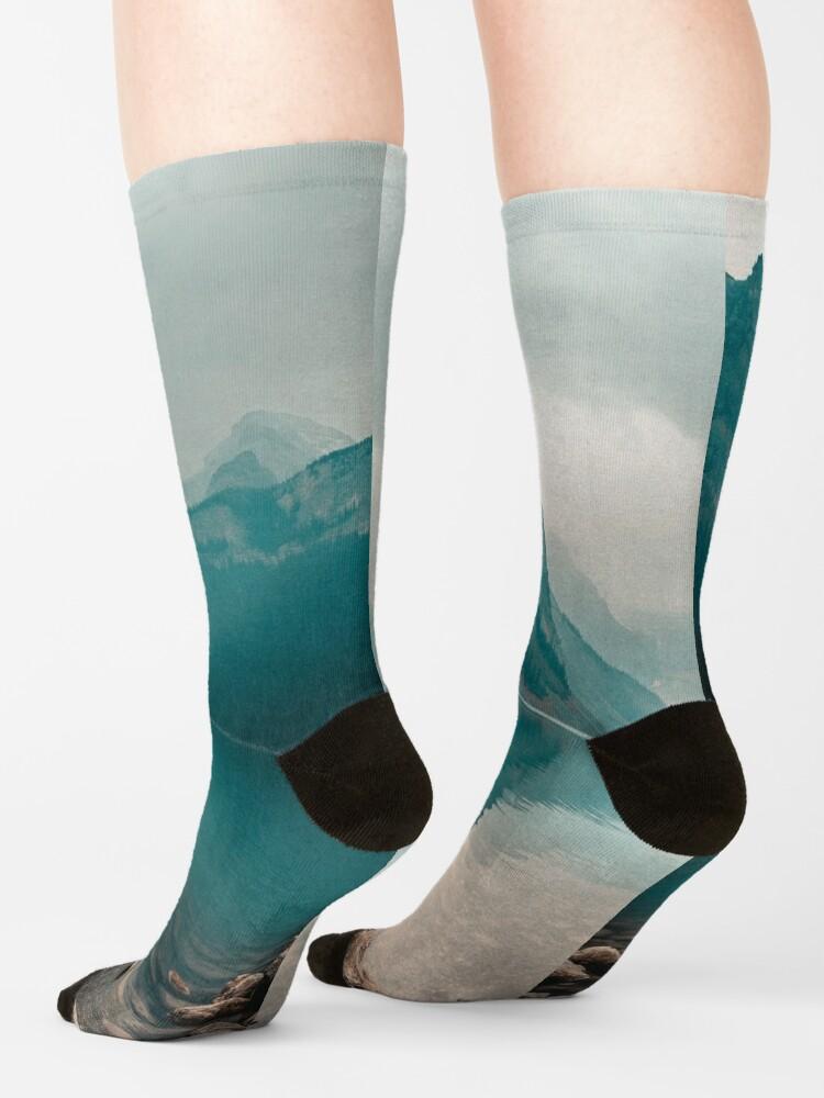 Alternate view of Lake Louise, Canada Socks