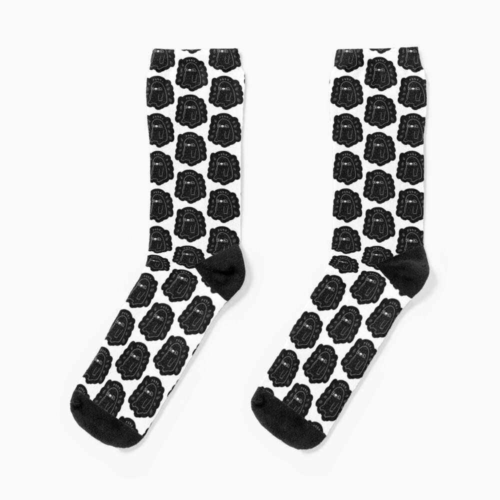 Monochrome Sloth - Simple Art Socks