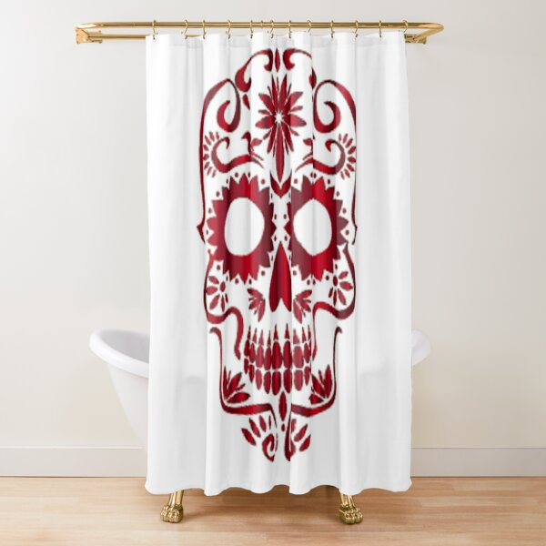 Red Skull printed on apparel, accessories, stickers and so much more. Shower Curtain