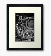 Controls on the Fireman's Side of the Locomotive Framed Print