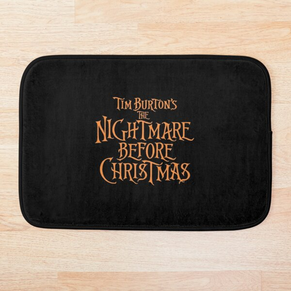 tim burton's the nightmare before christmas Bath Mat