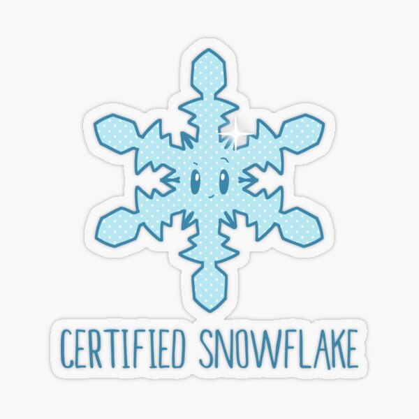 Certified Special Snowflake   cute lazy entitled millennials Transparent Sticker