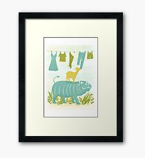 Humphrey the Hippo and the Cameroon Mountain Goat Framed Print