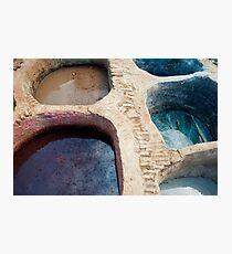 Colour Pools: Fes Tanneries Photographic Print