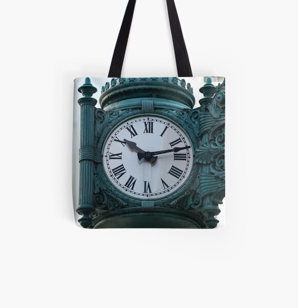 Marshall fields clock All Over Print Tote Bag