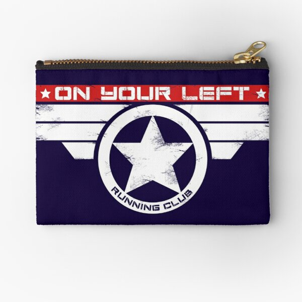 """On Your Left Running Club"" Hybrid Inverted Zipper Pouch"