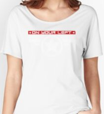 """""""On Your Left Running Club"""" Hybrid Inverted Women's Relaxed Fit T-Shirt"""