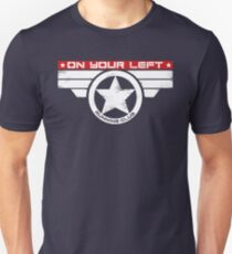 """""""On Your Left Running Club"""" Hybrid Inverted Slim Fit T-Shirt"""