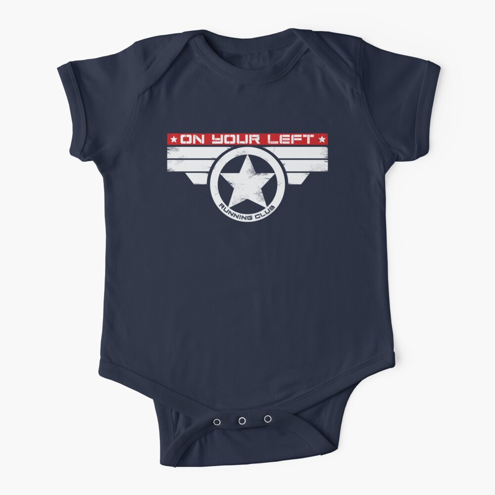 """""""On Your Left Running Club"""" Hybrid Inverted Baby One-Piece"""