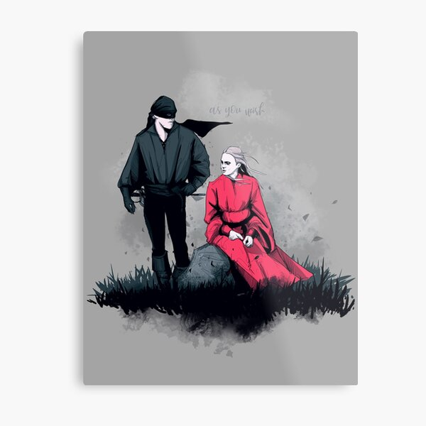 Westley and Buttercup Metal Print
