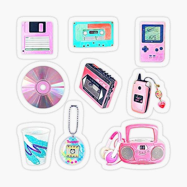 90's Kid Retro Nostalgia Collection Set ~ Sticker Sheet Bundle Pack ~ 3 Transparent Sticker