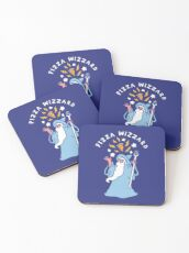 Magical Pizza Wizzard Coasters