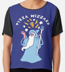 Magical Pizza Wizzard Chiffon Top