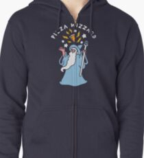 Magical Pizza Wizzard Zipped Hoodie