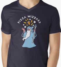 Magical Pizza Wizzard V-Neck T-Shirt