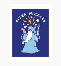 Magical Pizza Wizzard Art Print