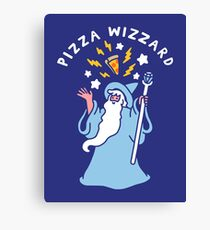 Magical Pizza Wizzard Canvas Print