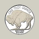 Buffalo One Troy Fine Silver by roccoyou