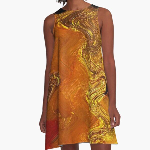 Autumn Gold A-Line Dress