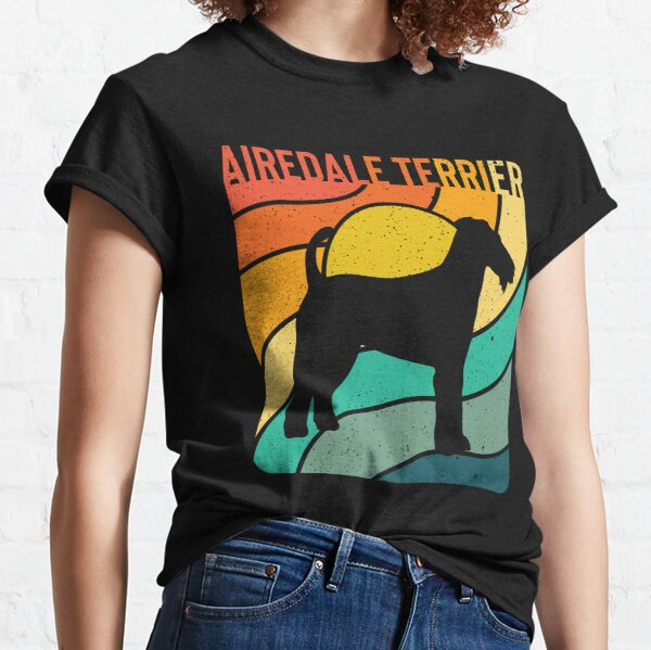 Airdale Terrier Dog Vintage Gift Pet Lover Classic T-Shirt