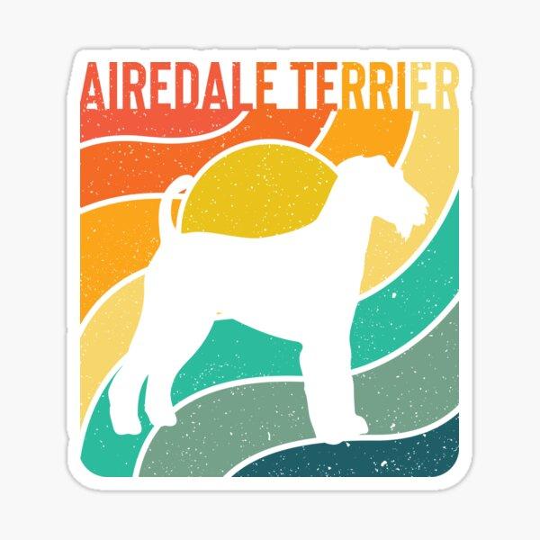 Airdale Terrier Dog Vintage Gift Pet Lover Sticker