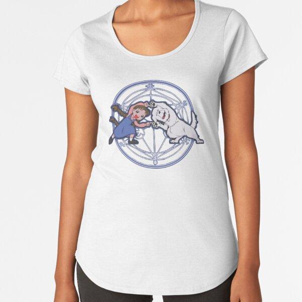 fusión de metal completo Camiseta premium de cuello ancho