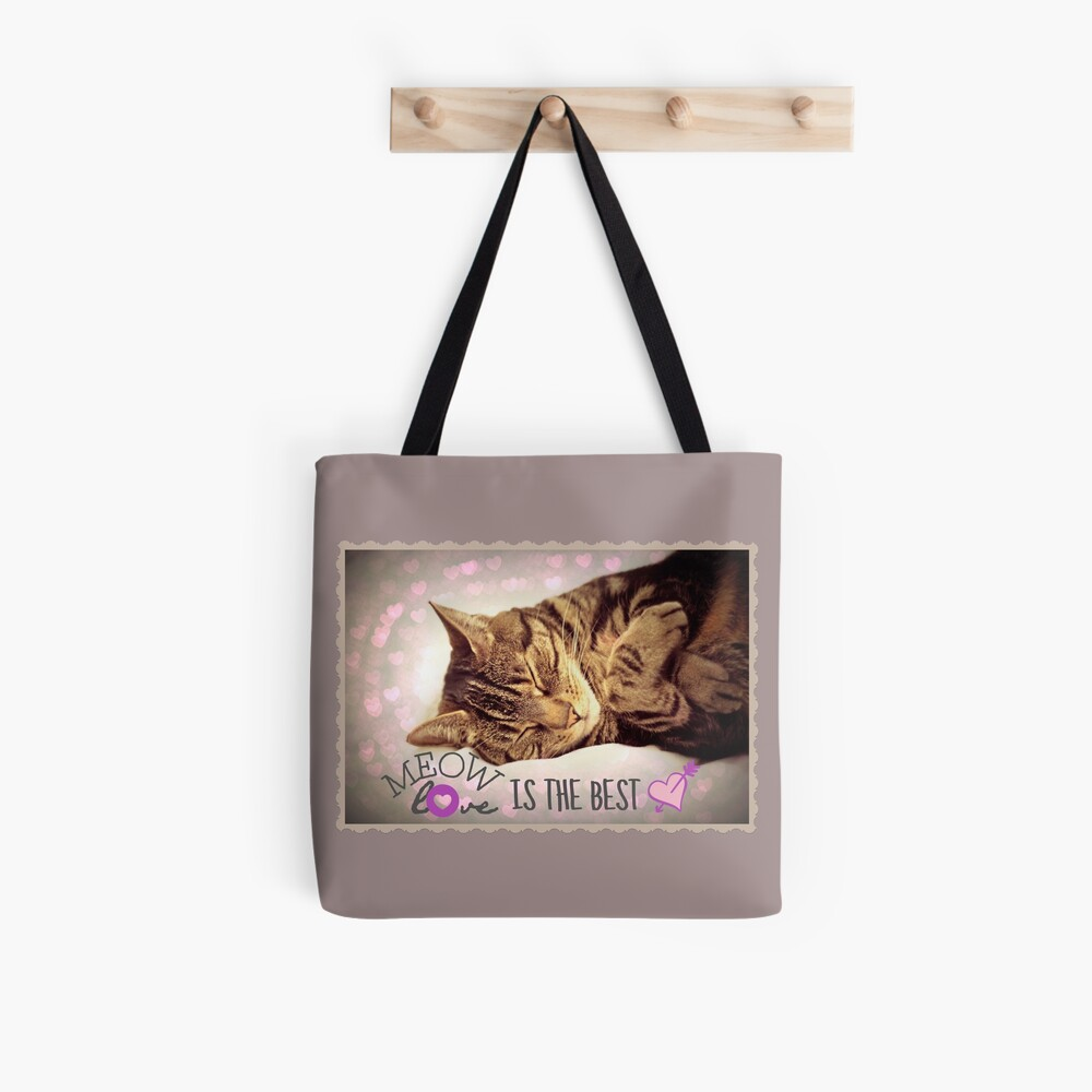 Meow Love is the Best Tote Bag