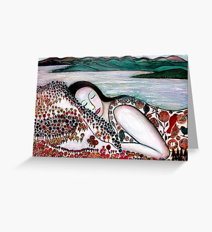 Mother Earth Goddess Greeting Card