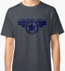"""""""On Your Left Running Club"""" Hybrid Distressed Print 1 Classic T-Shirt"""