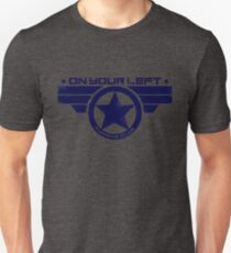 """On Your Left Running Club"" Hybrid Distressed Print 1 Unisex T-Shirt"