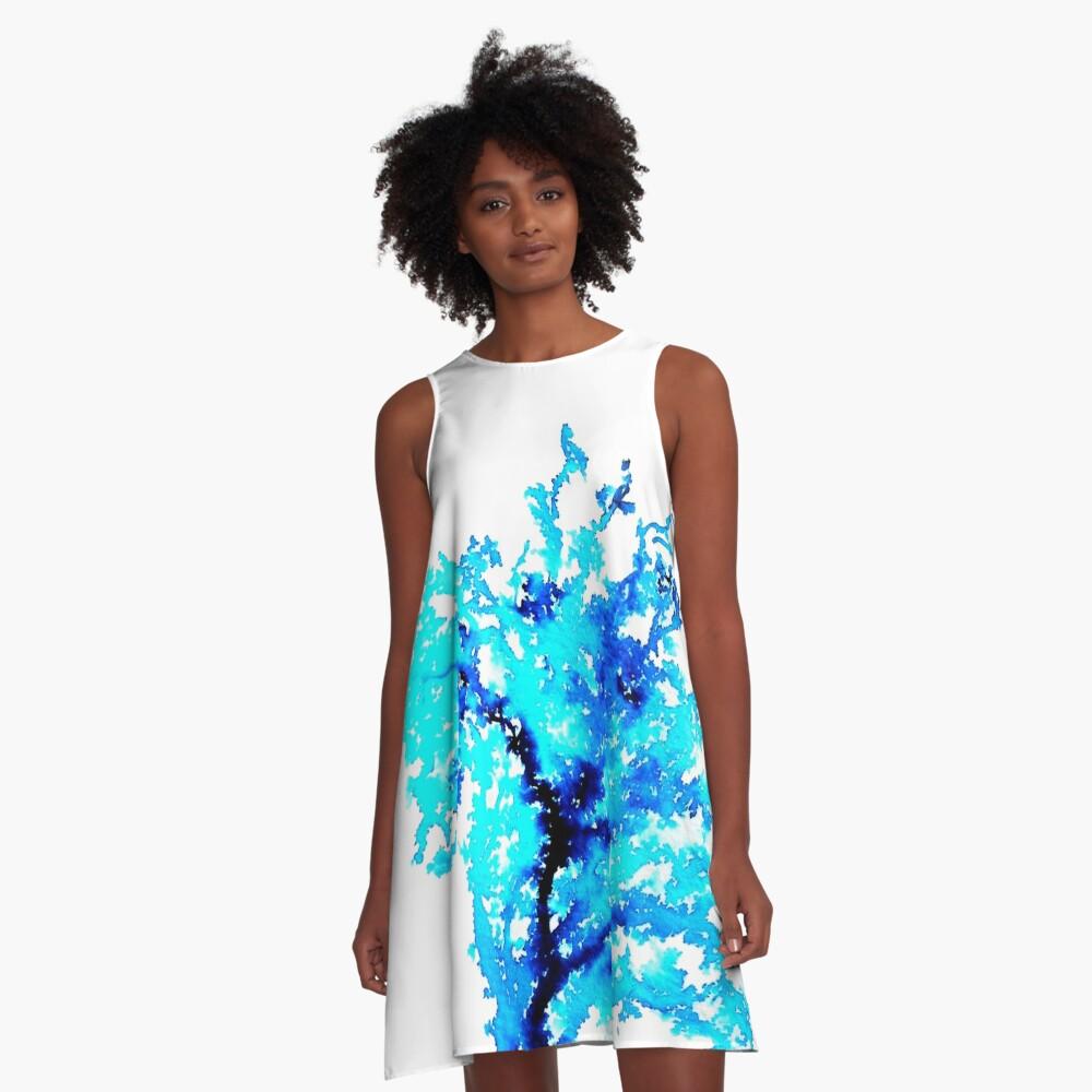 The Watercolour Tree A-Line Dress