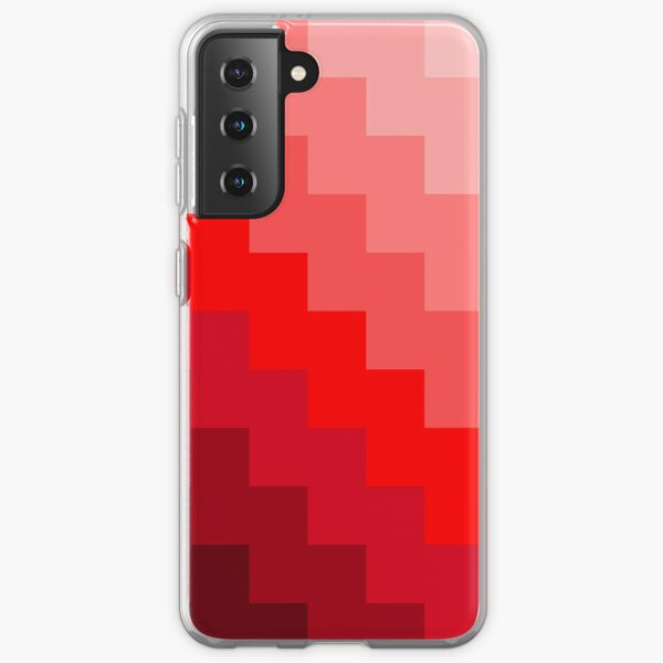 Pixeled shades of RED Samsung Galaxy Soft Case
