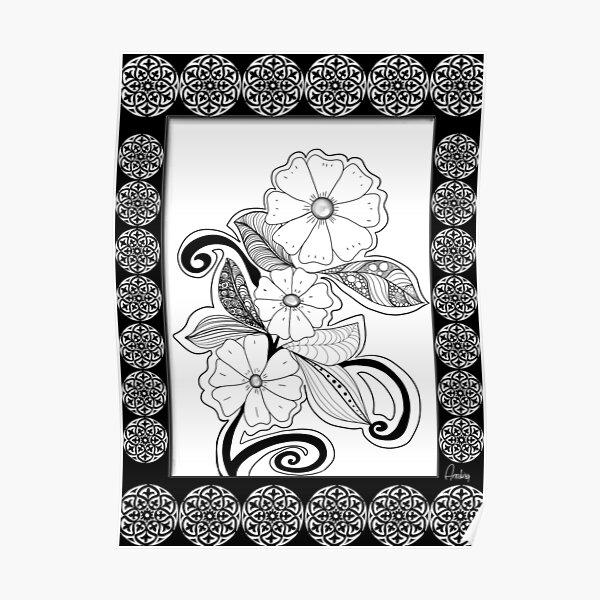 Zen Flowers Poster