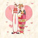 Newlyweds dressed in traditional costume of Piana degli Albanesi by vimasi