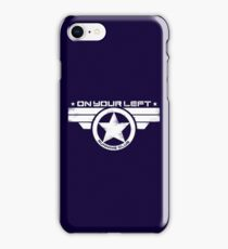 """""""On Your Left Running Club"""" Distressed Print 2 iPhone Case/Skin"""