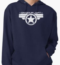 """""""On Your Left Running Club"""" Distressed Print 2 Lightweight Hoodie"""