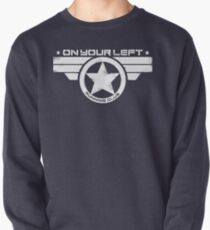 """""""On Your Left Running Club"""" Distressed Print 2 Pullover"""