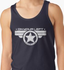 """On Your Left Running Club"" Distressed Print 2 Tank Top"