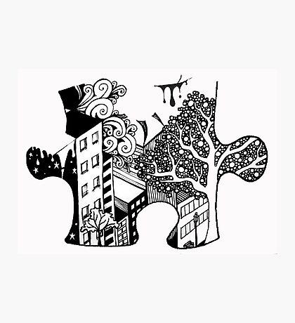 Exquisite Corpse Puzzle Piece Photographic Print