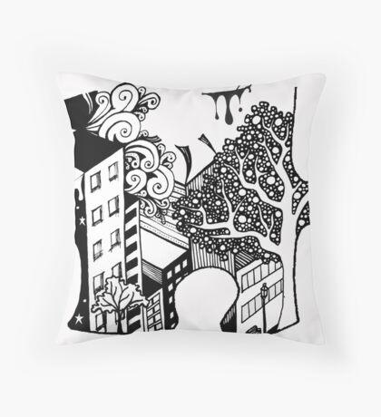 Exquisite Corpse Puzzle Piece Throw Pillow