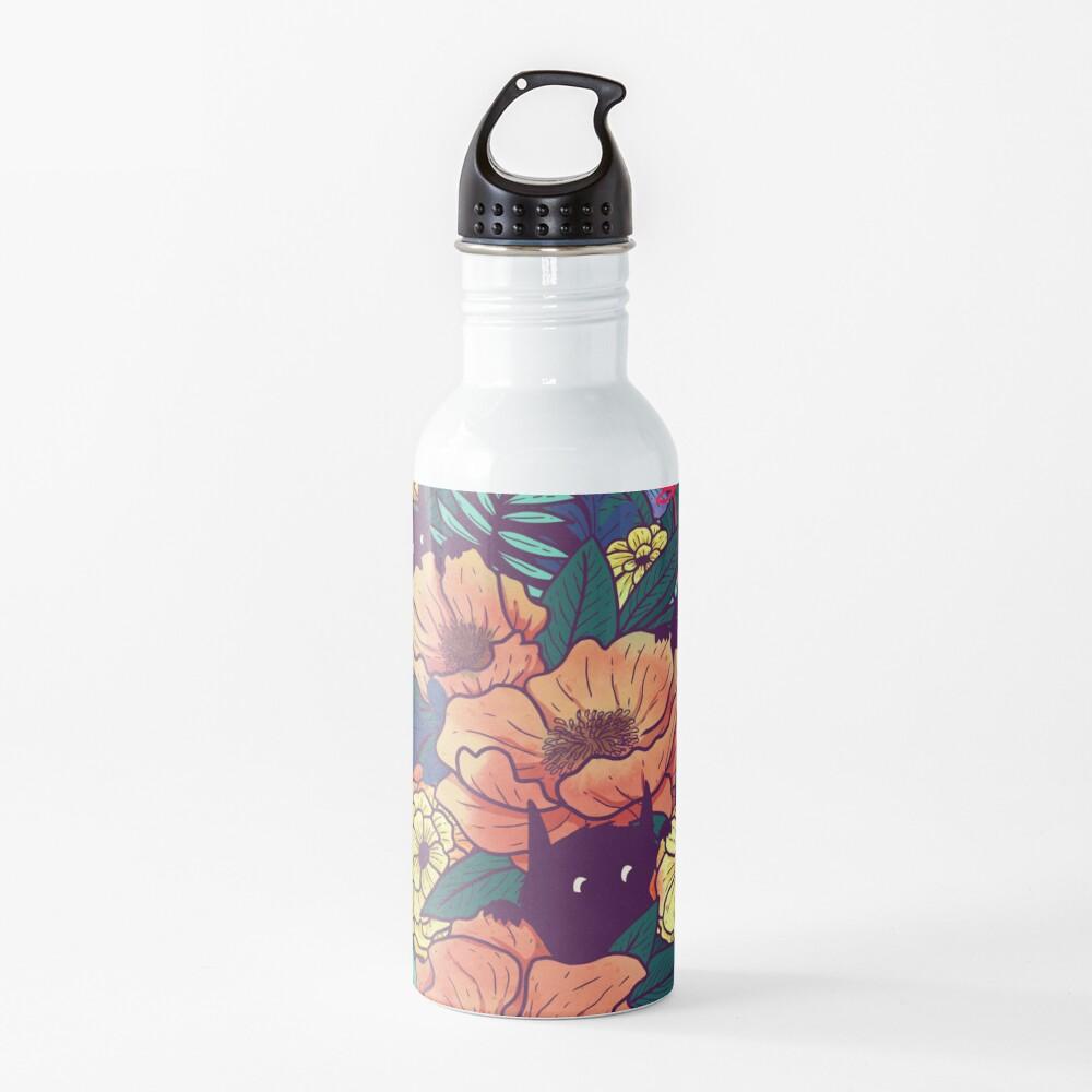 Wild Flowers Water Bottle By Littleclyde Redbubble