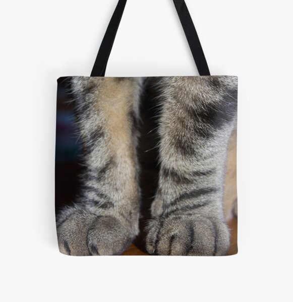 Tabby Pawsome All Over Print Tote Bag
