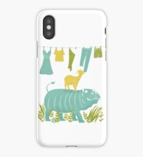 Humphrey the Hippo and the Cameroon Mountain Goat iPhone Case/Skin