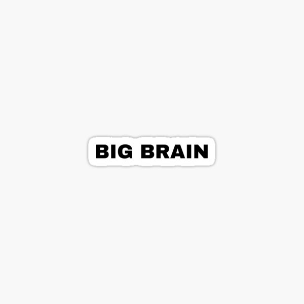 Big Brain  Sticker