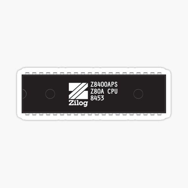 Vintage Zilog Z80 Microprocessor Markings Sticker