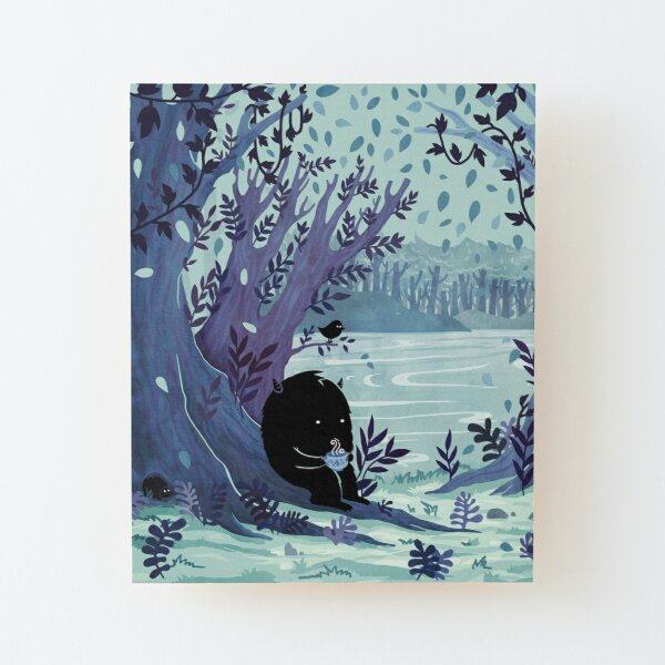 A Quiet Spot of Tea Wood Mounted Print