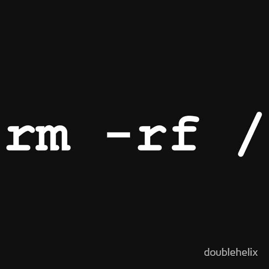 TShirtGifter presents: rm -rf /